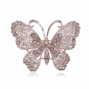 Cdet Brooch Pin Butterfly Alloy Brooch for Wedding Brooch Shawl Clip Lover Gift Silver