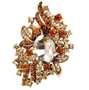 Cdet Brooch Pin Colourful Alloy Brooch for Wedding Brooch Shawl Clip Lover Gift Golden