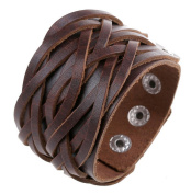 Canyan Vintage Punk Leather Bracelet , brown