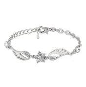 Canyan Diamond wings element bracelet female jewellery , White