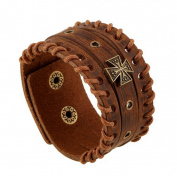 Wangjianfeng Men's leather Punk rivet bracelet