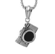 Wangjianfeng Stainless steel titanium camera pendant necklace