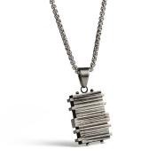 Wangjianfeng Cubic Pendant titanium Steel necklace