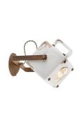 Retro ferroluce c1651-vib Industrial Lantern Wall Light E27, 53 W, Vintage White