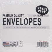 Leader Paper Products Square Envelopes, 15cm x 15cm , 25/Pkg