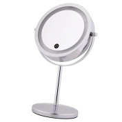 Sharplace 18cm LED Light Dual Sided Beauty Makeup Cosmetic Stand Mirror 10x Magnifying