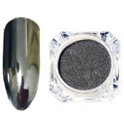 Sylvia QEr Magic Mirror Black Nail Glitter Powder Sequins Powder Dust Nail Art Flash Powders Mirror Chrome Powder Pigment DIY Manicure Nail Art Beauty Design