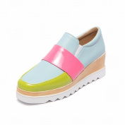 Waterproof Table Shallow Mouth with the Fight Colour Fashion Women's Boots Shoes Shoes , blue , EUR34