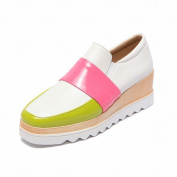 Waterproof Table Shallow Mouth with the Fight Colour Fashion Women's Boots Shoes Shoes , white , EUR34