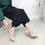 Fashion Hit Colour Wool Hair Tips Fine with High Shoes Shoes , white , EUR37