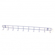 Metal Bedroom Bathroom Kitchen Wall Hook Rail Clothing Storage Rack