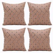 Aipark 4pcs 46cm x 46cm Diamond Pattern Imitation Square Waist Throw Pillow Covers Decorative Cushion Covers