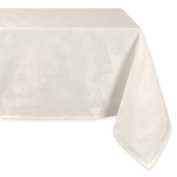 Holiday Trees Winter White Tablecloth - 150cm X 150cm