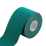 Sports Exercise Gym Self-Adhesive Muscle Care Tape Wrap Bandage Green 5M Length