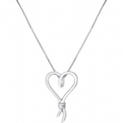 Knots of Love Sterling Silver Pendant, 46cm