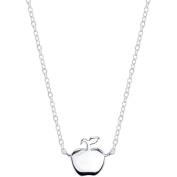 Disney Princess Women's Sterling Silver Snow White Apple Station Necklace