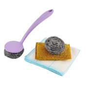 4 in 1 Household Kitchenware Cleaner Scrubber Cleaning Tool Set