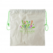 Totally Addict kb5799 Salad Bag Cotton beige-vert 1 x 32 x 34 cm