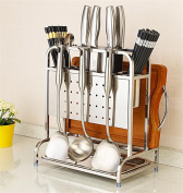 SQL 304 stainless steel kitchen shelf knife storage shelves
