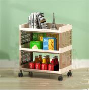SQL Bedroom Kitchen Shelves Plastic Storage Racks Mobile Wheeled Storage Racks , coffee