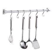 SQL Kitchen Bathroom Shelves Space Aluminium Kitchenware Storage Rack Black / Silver , Silver