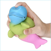 Hotsellhome Super Jumbo Dolphin Squishy Scented Squishies Slow Rising Squeeze Soft Toy Collection Gift