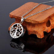 3D Tree of Life Cremation Jewellery Pendant Ashes Keepsake Memorial Urn Neckalce