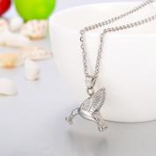 Premium Hummingbird Cremation Jewellery Keepsake Memorial Ash Urn Holder Necklace