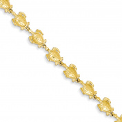Roy Rose Jewellery 14K Yellow Gold Sea Turtle Link Bracelet ~ Length 18cm inches