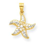 Roy Rose Jewellery 10K Yellow Gold & Rhodium StarFish Charm