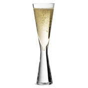 Classic Champagne Flute 17cl - Single - Handmade Champagne Glass with a Solid Glass Stem