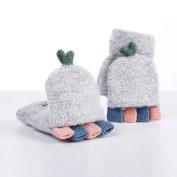 Wawer Women Warmer Winter Fingerless Thicken Hot Gloves Mitten Hand Wrist Free Size