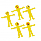 5PC Novelty Emoji Emoticon Stretch Toys SOMESUN Soft Decompression Squeeze Stress Relief Toys