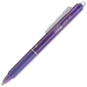 31455 FriXion Pilot FriXion Clicker Erasable Gel Pens - Fine Pen Point Type - 0.7 mm Pen Point Size - Needle Pen Point Style - Purple Ink - 1 Each