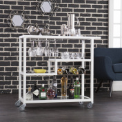 Holly & Martin Zephs Bar Cart, White