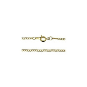 46cm Curb Chain Necklace - Gold Plated