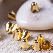 20 pcs 9mm Jewellery Making Metal Multi-Petal Bellflower Hollowed Gold Bead Caps Flower Cup Shape Beads