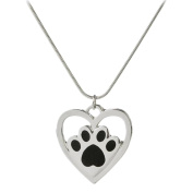Cdet Women Necklace Cute Heart Dog Footprint Pendant Necklace Adjustable Collar Chain Necklace Love Gift