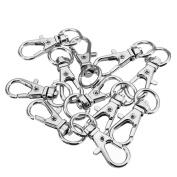 50 Pcs Mini Small Silver Zinc Alloy Swivel Lobster Clasp Key Chain Key Split Ring Connexion Claw Snap Hook Clasps