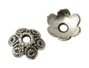 Pack of 20 Antiqued Silver Bead Caps 11mm Jewellery Findings Pearl Bead Accessories