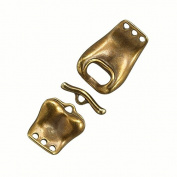 Brass Buckle Design 3 Strand Connector Toggle Clasp 60mm