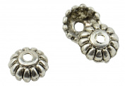 50 Petal Style Metal Bead Cap 10mm Jewellery Making Accessory
