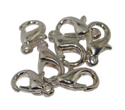 Lobster Clasps 10mm Dark Silver Plated Jewellery Spring Hook Catch 25 pack
