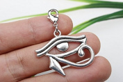 Own Charm , Eye of Horus Pendants 26 X 31mm Antique Silver Tone