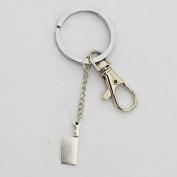 Butcher Knife Keychain - Silver Zombie Weapon Funky Keychain Creepy Cute Keychain Funny Keychain Quirky Jewellery Geek Weird Keychain
