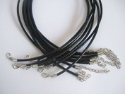 10pcs Black Leather Cord Choker Necklace Chain Charm Findings String 3mm