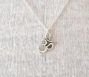 Silver Om Necklace Boho Yoga Jewellery