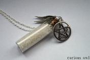 Salt & Pentagram Vial Bottle Necklace - Curious Owl