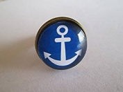 Cabochon Adjustable Ring ,Anchor Picture Ring,Image Jewellery,Gift for Girlfriend,mum
