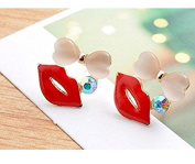 Philna12 Girl New Fashion Lips Stud Earring